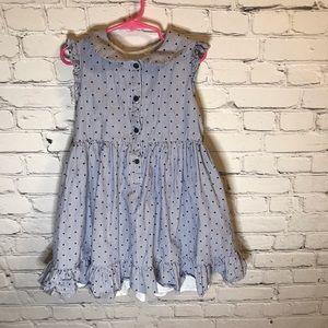 Marmallotta Pinstripe Gathered Button Up Dress